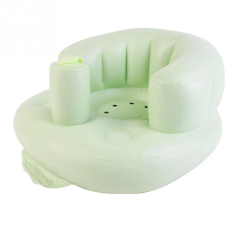 Inflatable Portable  Baby Chair Inflated Bath Room Stools Children Seat Kids Learn To Sit Play Games Bath Sofa Free Shipping (5)