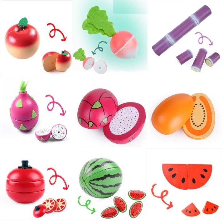 Zauberartikel & -tricks 54Pcs Simulate Kitchen Slicing Toy Set Kids Fruit Vegetable Cooking Toy  U