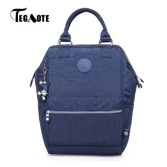 a1be136872d2 TEGAOTE Women School Backpack for Teenage Girl Mochila Feminina Shoulder  Travel Bags Girl Nylon Waterproof Laptop Bagpack Female