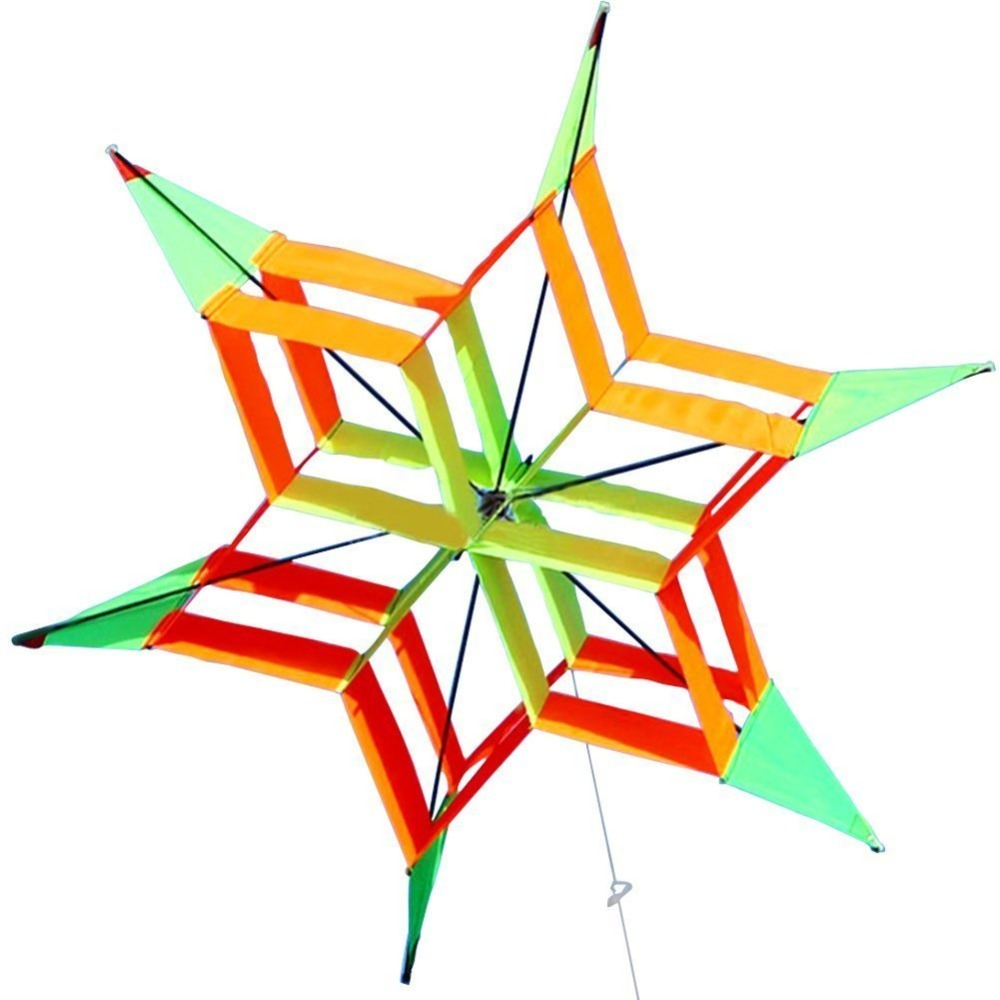 все цены на New Arrive New Style 3D Flower Kite With Handle & Line Good Flying