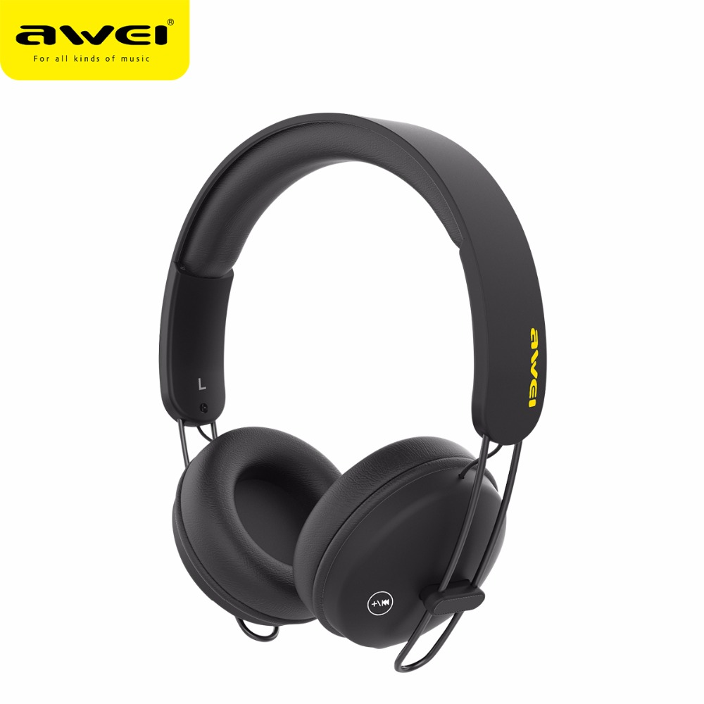awei a800bl bluetooth headset wireless wired headphones with touch button pu earmuffs stereo. Black Bedroom Furniture Sets. Home Design Ideas