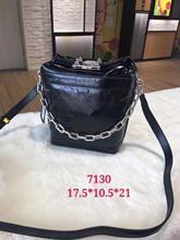 Kafunila 100% real genuine leather chain bucket bag 2019 new arrival luxury handbags women bags designer crossbody shoulder