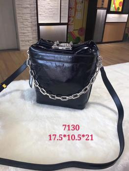 Kafunila 100% real genuine leather chain bucket bag 2019 new arrival luxury handbags women bags designer crossbody shoulder bag