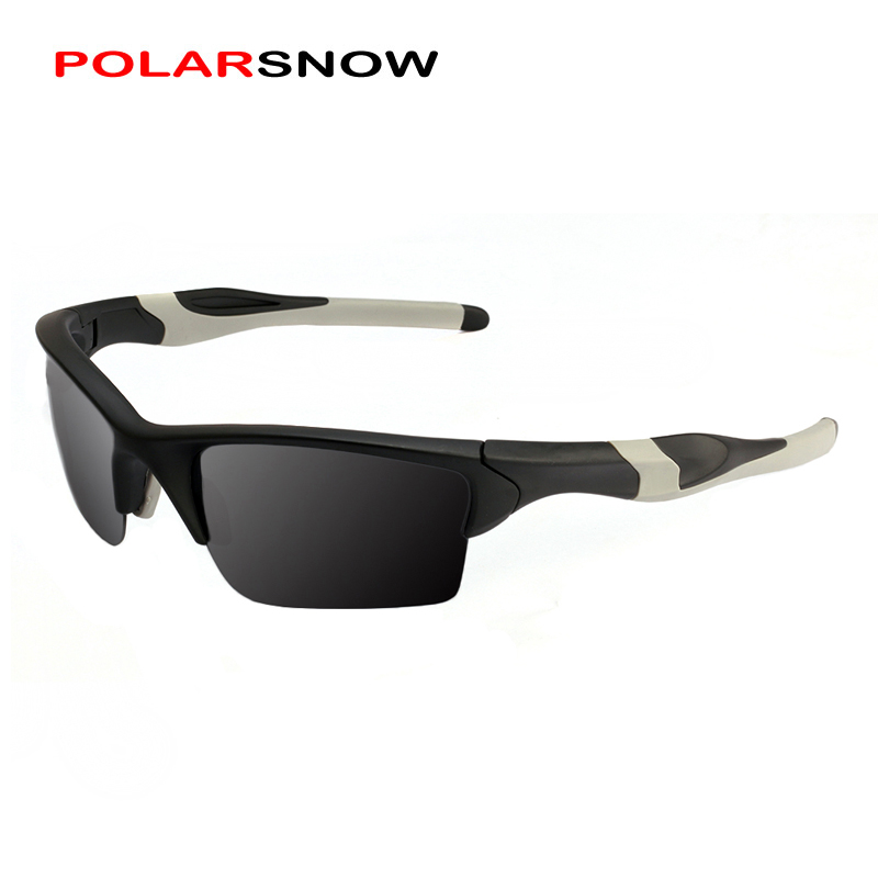 POLARSNOW Brand Sport Sunglases Polarized for Unisex TR90 Frame Black Lens Classic Retro Style High-end Driving EyewearPS8708