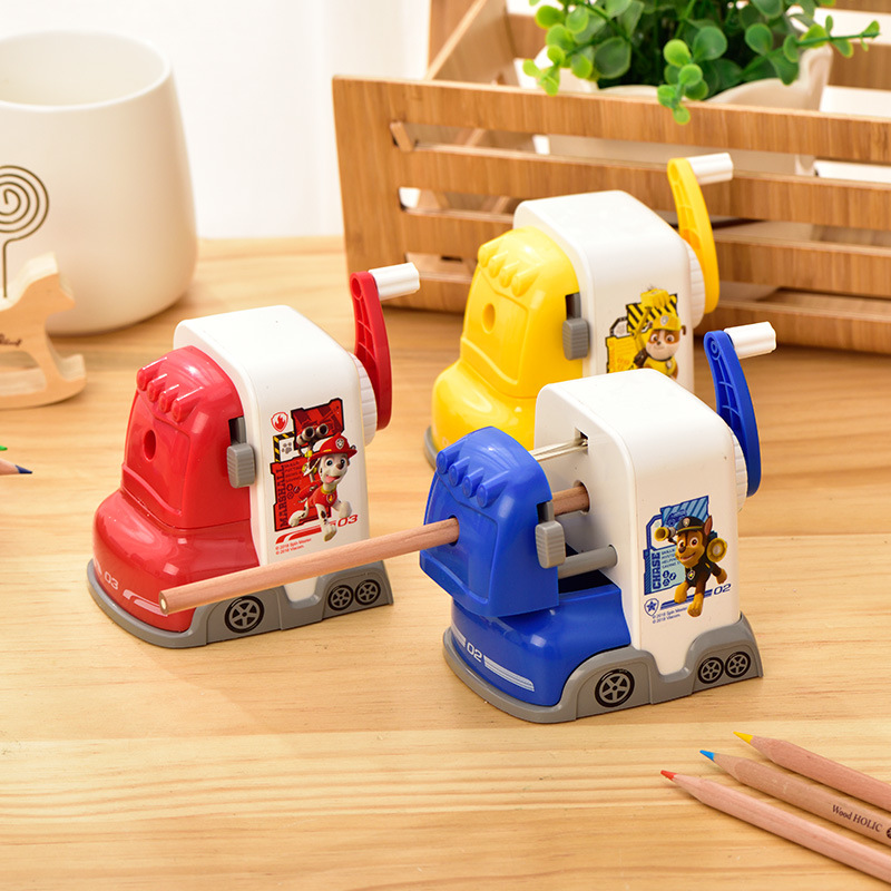 Pupil Children Cartoon Creative Knife Sharpener love dog Pencil Sharpeners For Kids Pencil Sharpener Mechanical Deli Stationery new arrival deli sweet house children pencil sharpeners 0724 cute cartoon students mechanical pencils writing supplies blue