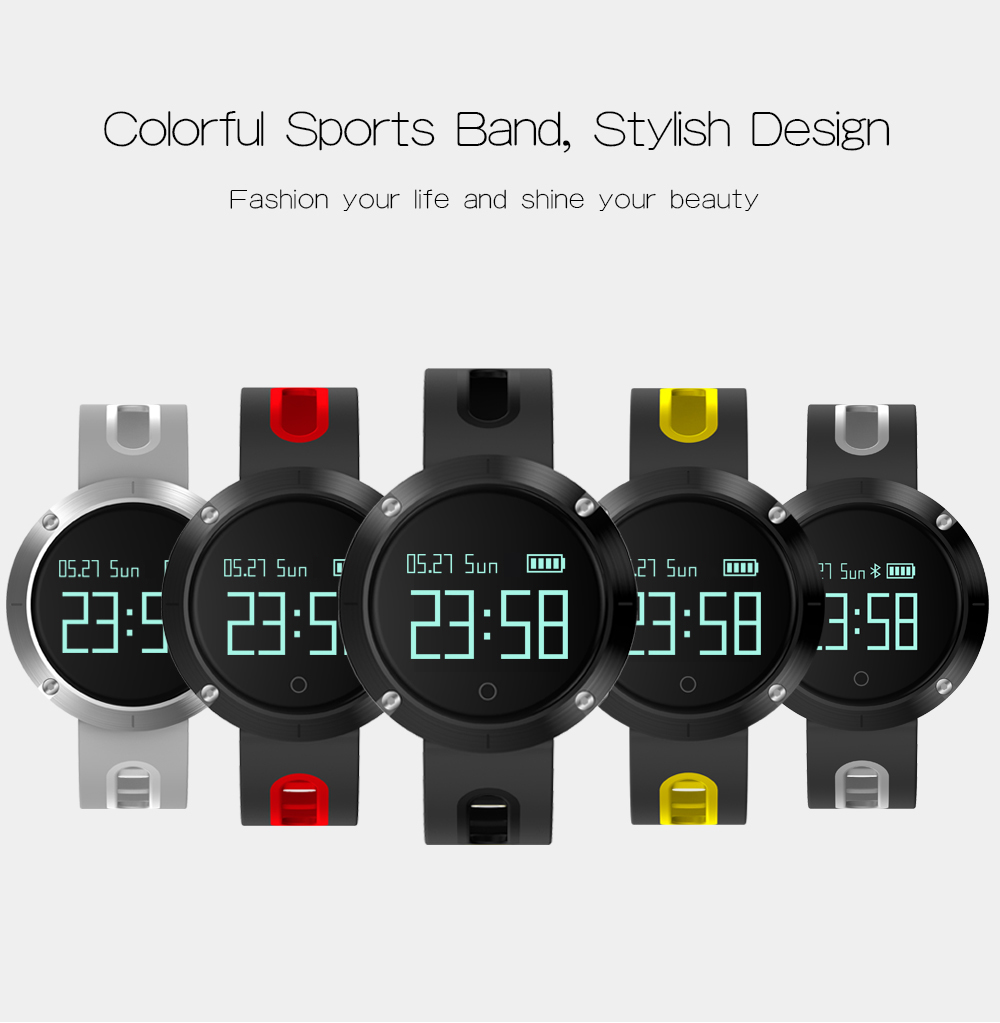 MAKIBES DM58 BLUETOOTH SPORTS HEART RATE SMART BAND WITH BLOOD PRESSURE MONITOR IP68 WATERPROOF WRISTBAND 237054 34