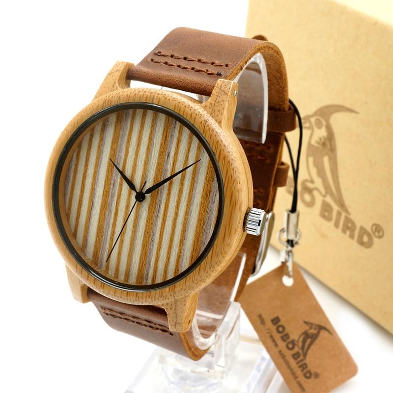 Luxury Brand Leather Men s Women s Watches Casual Wooden Quartz Watch Leather Strap Wrist Watch