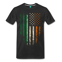 Irish American Flag Men S Premium T Shirt Print T Shirt Men Harajuku Top Tee 2018
