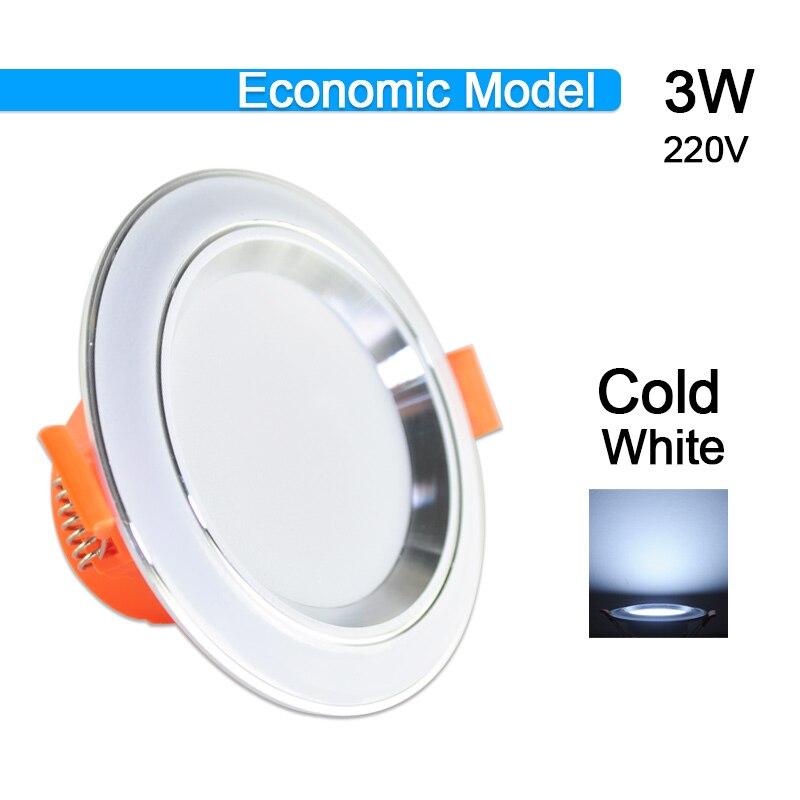 Потолочный светильник 3 Вт 5 Вт 9 Вт 12 Вт 15 Вт 18 Вт точечный светодиодный светильник AC 220 В золотистый, серебристый, белый ультратонкий алюминиевый круглый встраиваемый Светодиодный точечный светильник - Испускаемый цвет: 3W Cold White