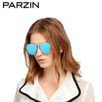 Parzin поляризованные солнцезащитные очки Женские винтажные пилот женские солнцезащитные очки для вождения УФ 400 женские тени с оригинальным