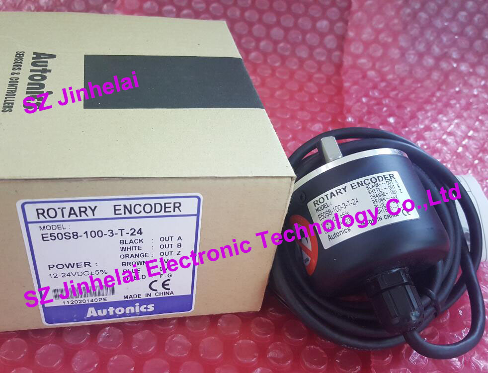 E50S8-100-3-T-24  New and original AUTONICS   Incremental rotary encoder e50s8 1000 3 t 24 new and original autonics incremental rotary encoder