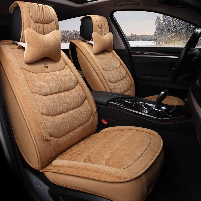 5D Winter Car Seat Cover Cushion Plush Car Accessories,Car Styling Seat Cushion Covers, Warm Seat Mats, Safe Driving All cars