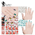 1Pcs 2016 Hot Selling Spring Summer Style Flowers Nail Stickers Water Transfer Nail Art Stickers for Nail Art Decorations