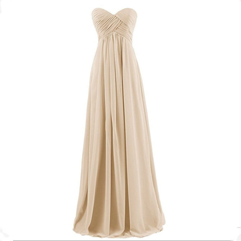 Lly Kq Many Colors Ball Gown Strapless Dear Heart Bridesmaid Dresses Khaki Whole And Retail Long Dress In From Weddings Events On