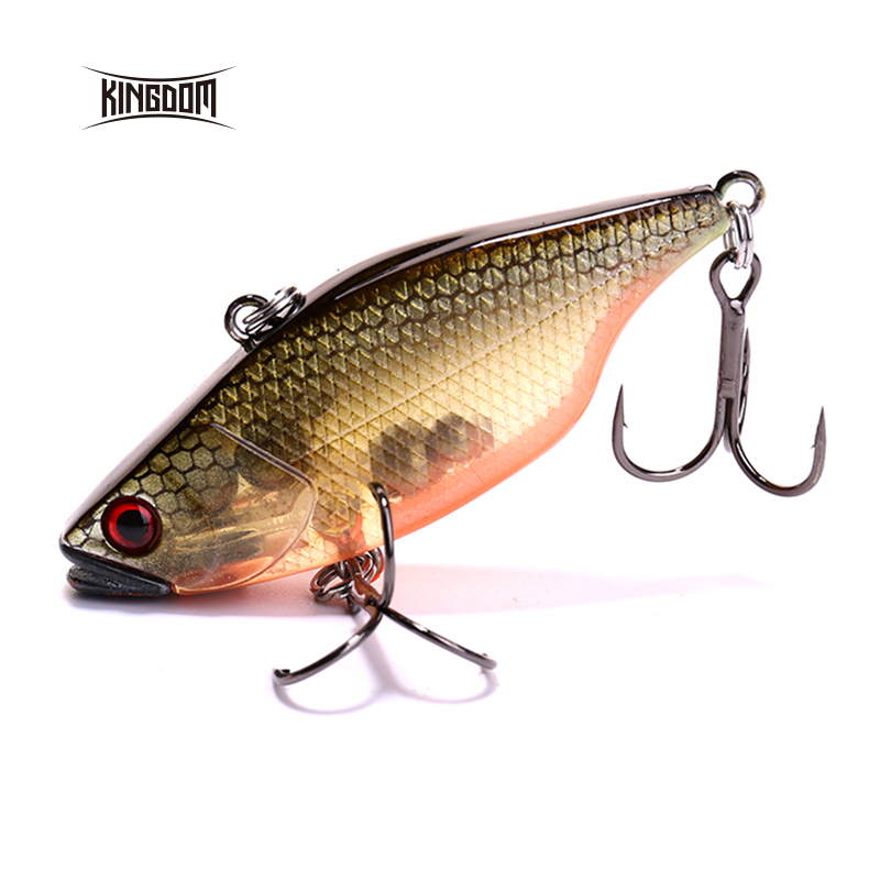Kingdom fishing lure hard fishing bait VMC hook  10.5g 70mm wobblers four colors available model 5297 export prefessional fishing lure minow hard bait 9cm 30g 3 vmc hook laser scale body inside steel balls for every water depth