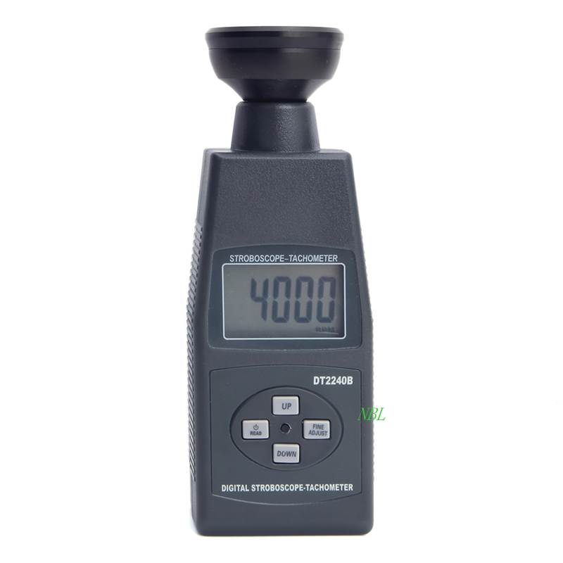 LCD Display DT2240B Digital Control Adjust Flash Frequency High Accuracy 0 05 Stroboscope Tachometer Meter Range