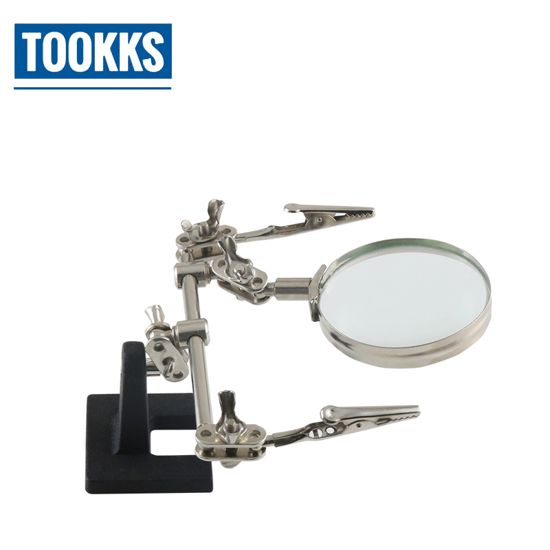 3X Zoom Desktop Magnifying Glass with Clip Lens Magnifier For Cell Phone SMD soldering Soldering Repair