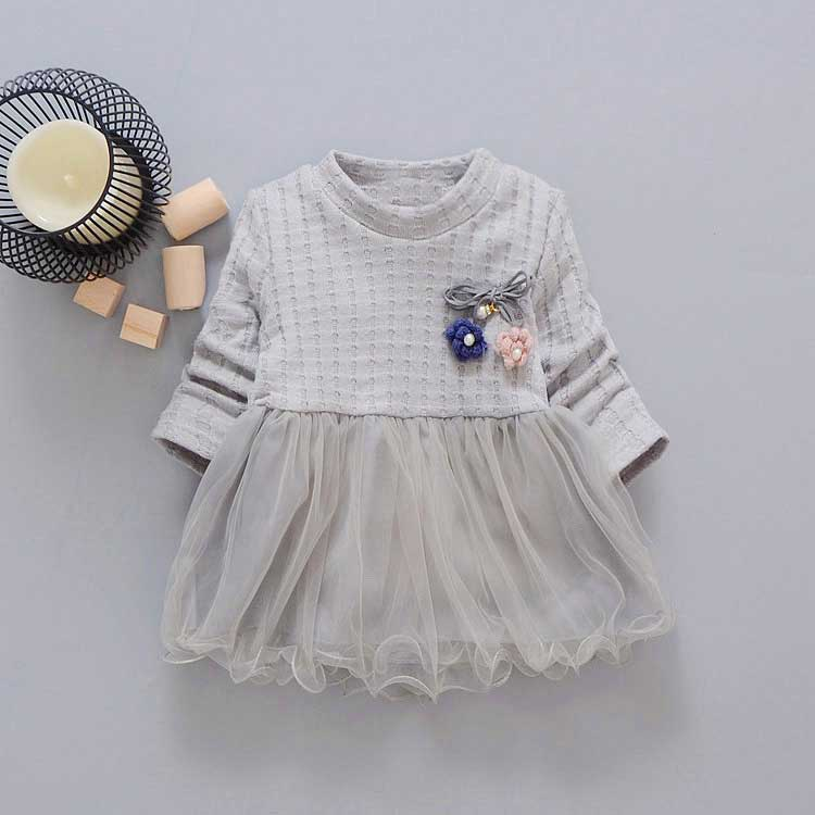 new-spring-Autumn-Casual-baby-princess-Long-Sleeve-Kids-Sweet-Knit-top-mesh-patchwork-infant-Children-girls-Dress-Y2059-3