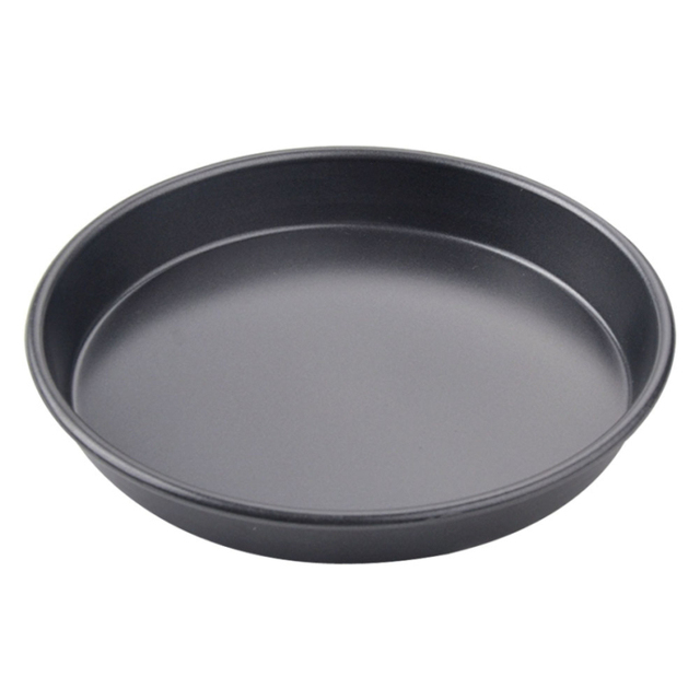 8 Inch Non Stick Pizza Pan High Duty Steel Baking Dish Tray Microwave Oven Cake