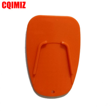 Universal Orange Motorcycle Plastic Side Stand Motorbike Kickstand Non-slip Plate Extension Support Foot Pad Base