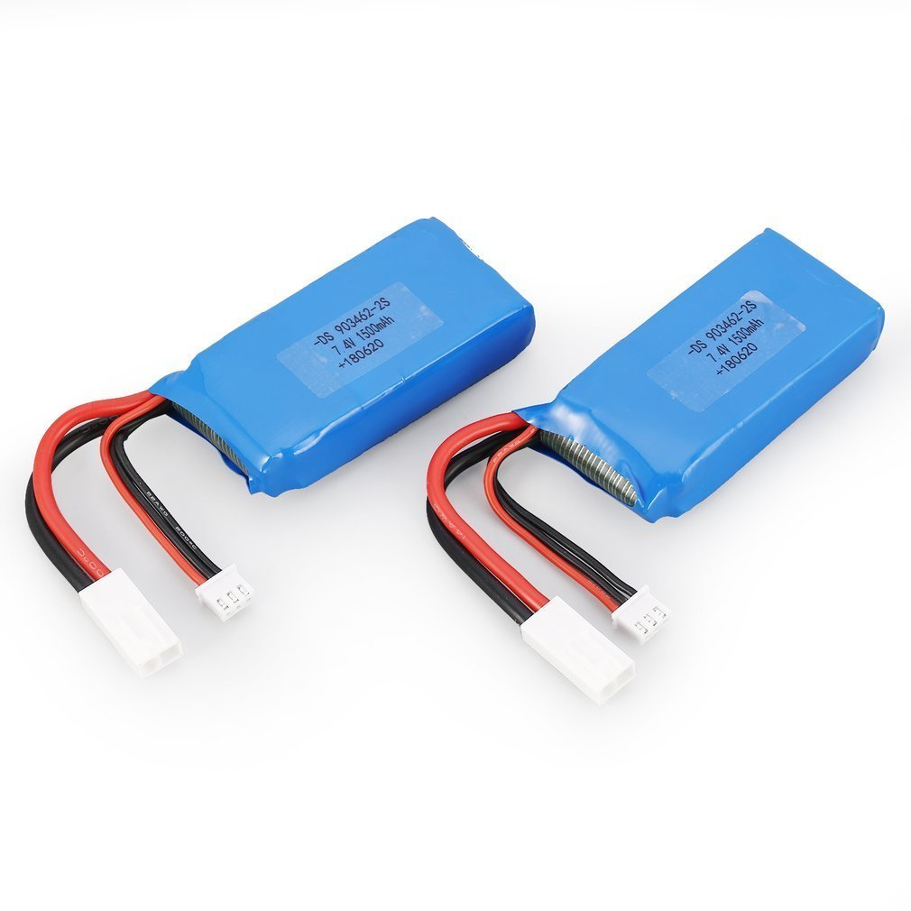 2pcs 7.4V 1500mAh 25C 2S Lipo Battery with Small Tamiya Plug Rechargeable For Feilun FT009 RC Boat Speedboat Car Airplane