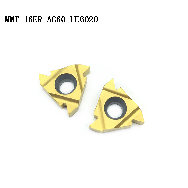 MMT 16ER AG60 UE6020 Tungsten Carbide Insert MMT16ERAG60 UE6020 Face Mill Lathe  CNC Tools  Cutter MMT Thread Turning Tool