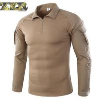 Men Summer Army Combat Tactical T Shirt Military Camouflage Long Sleeve Military T shirts Man Clothes Airsoft Paintball No Pads