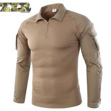 Men Summer Army Combat Tactical T Shirt Military Camouflage Long Sleeve Military T-shirts Man Clothes Airsoft Paintball No Pads emerson combat shirt military army airsoft tactical long sleeves clothing hunting paintball camouflage shirts clothes acu em8461