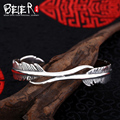 Beier 925 Sterling Silver Bracelet  fashion romantic Fine widened feather Bracelet Bracelet man and women bracelet   BR925SZ004