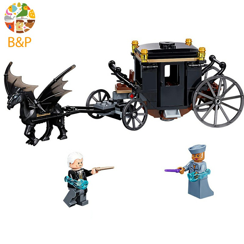 lepin 16053 Harri Potter The Legoing 75951 Grindelwald`s Escape Set Building Blocks House Model Kids Toys Christmas Gifts
