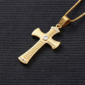 New style Fashion Jewelry Neutral Gold Plated Luxury Men Long Choker Necklaces & Cross Pendants for Women Girl Best Gift 4 Style