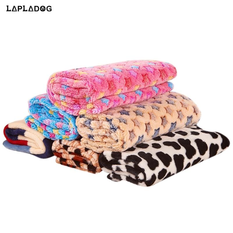 100x80cm Breathable Dog Rest Blanket Stars Print Fleece 3 Size font b Pet b font Pad