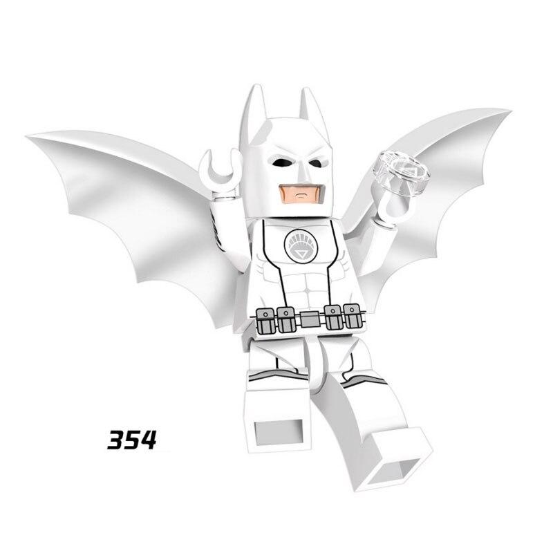 Single Sale Super Heroes Star Wars 354 White Lantern Batman Building Blocks Figure Bricks Toy Kid Gift Compatible Legoed Ninjaed
