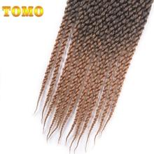 TOMO Hair Kanekalon Fiber Braiding Hair 18″ 12Roots 100g/Pack Ombre 3D Cubic Twist Crochet Hair Braid Extensions 5Packs/Lot