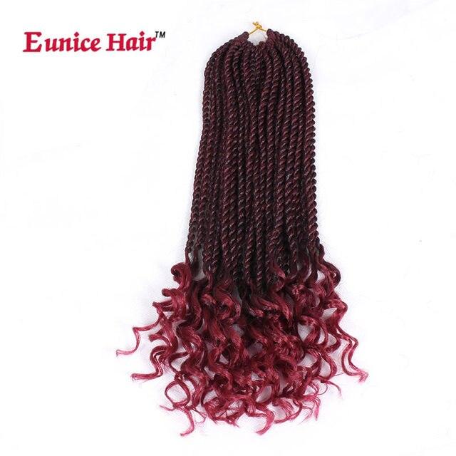 Online Shop Eunice Hair Crochet Braids 16 Inch Ombre Burgundy