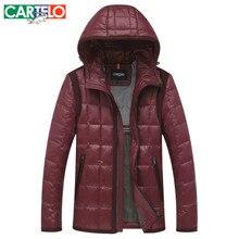 CARTELO/Marke Slim 90% Ente S-XXXL männer Casual Daunenjacke Herbst Oder Winter Mit Kapuze Kragen Männlichen Jacken Warme dicken Mantel