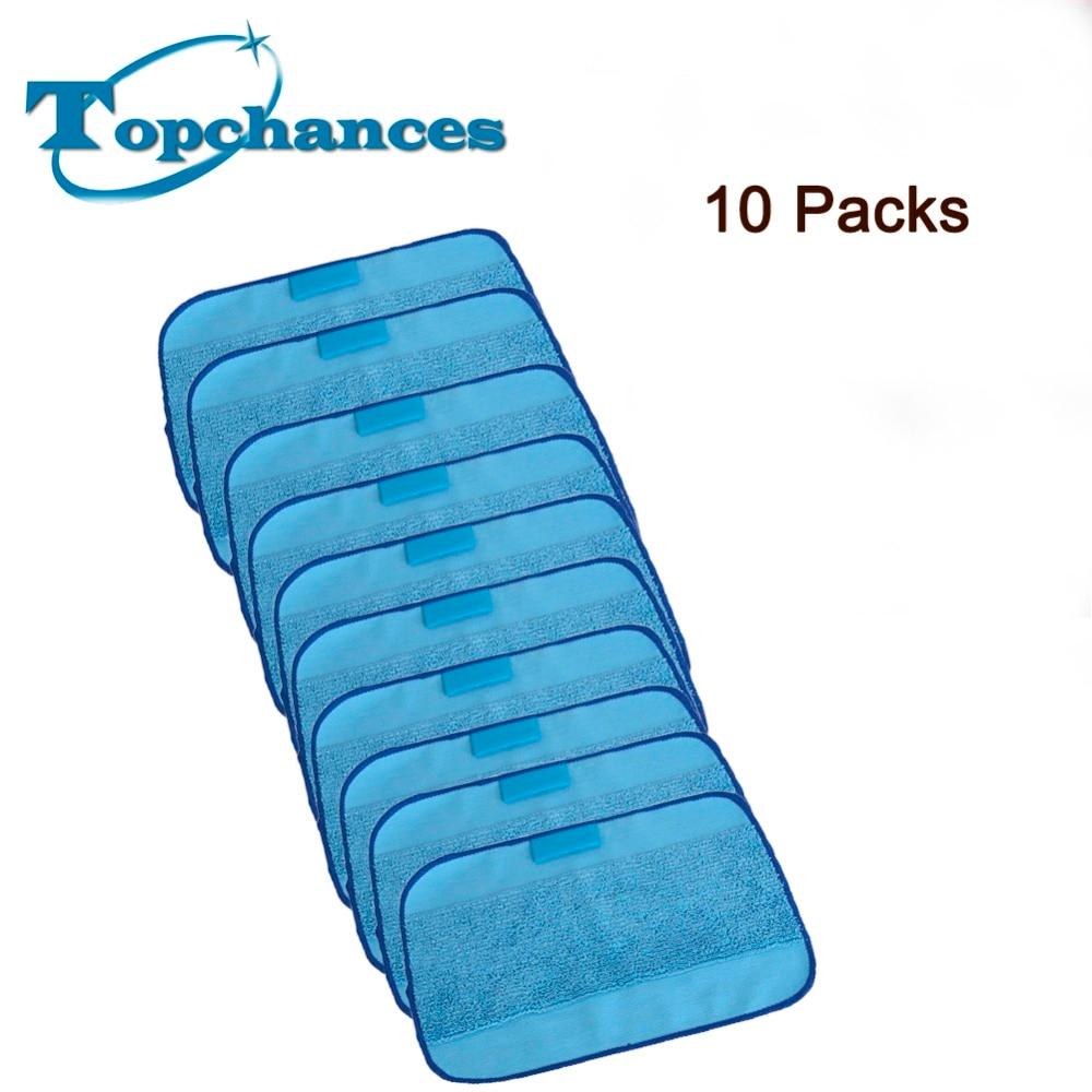 10pcs Lot New Blue Washable Reusable Microfiber Mopping
