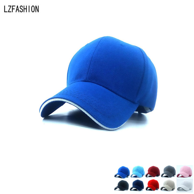 [LZFASHION] Fashion High quality Wholesale Summer Style Baseball Cap Men Women Ball Caps Breathable Team Hat Customize 10 Color