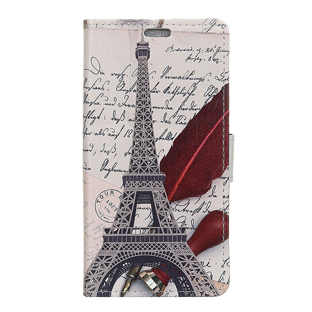 Luxury Painted Eiffel Tower Tiger Owl Wallet PU Leather Flip Card Slot Cover case for HUAWEI P20 5.8 Bag Case fundas
