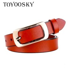 2018 New Arrival Fashion Women Belts Pin Buckle For Jeans Designer High Quality Luxury Elegant Belt TOYOOSKY