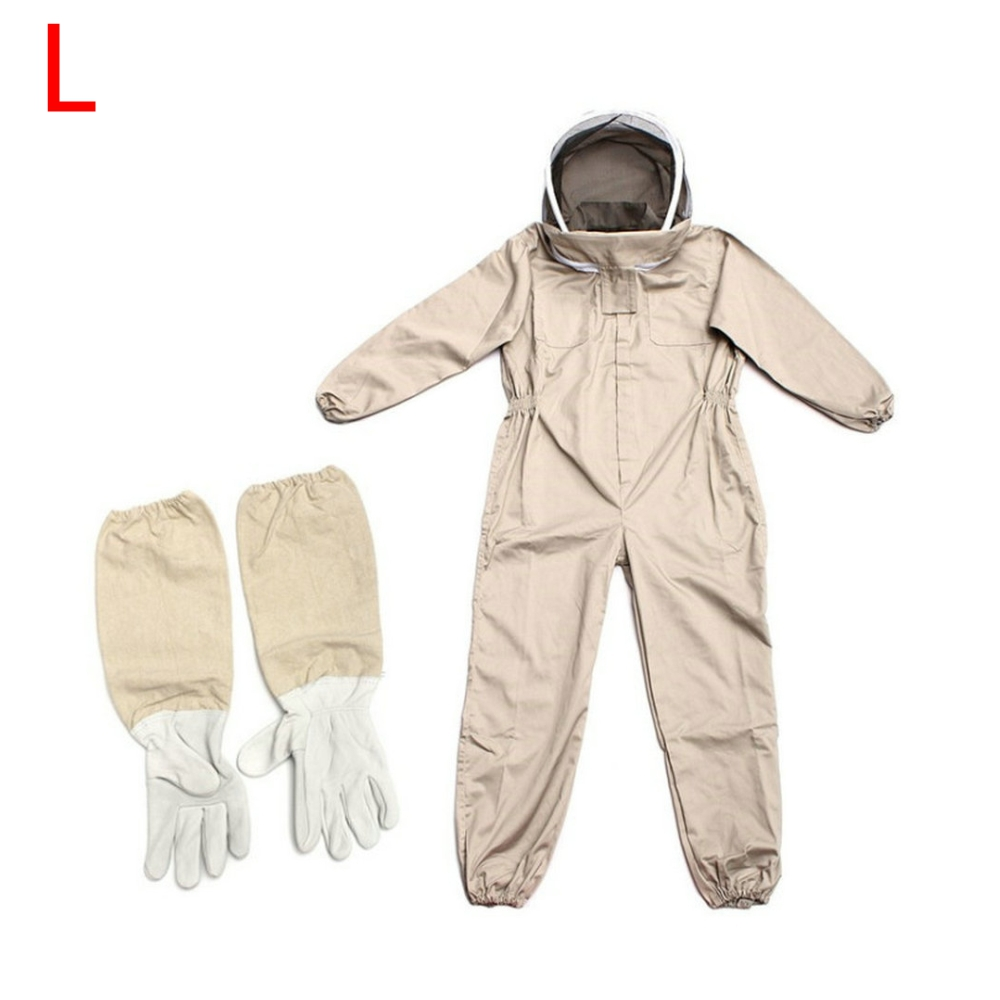 Image 2 - Professional Ventilated Full Body Beekeeping Bee Keeping Suit w/ Leather GlovesProtective Clothing