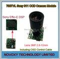DIY 700TVL 2.8-12mm Varifocal Lens Sony 811 CCD+Effio-E DSP Analog CCTV PCB Board Camera Module OSD Control Cable Free Shipping