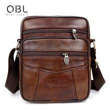 QiBoLu Cow Genuine Leather Messenger Bags Men Travel Business Crossbody Shoulder Bag for Man Sacoche Homme