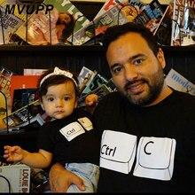 CTRL C V одежда для мамы и дочки одинаковые комплекты для мамы и дочки, папы и сына, футболки для всей семьи летние футболки