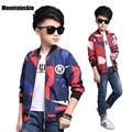 2017 Spring Fashion Children's Jackets for Boy's Coats Kids Bomber Jackets 4-14Y Boy's Windbreaker Patchwork Kids clothes SC781