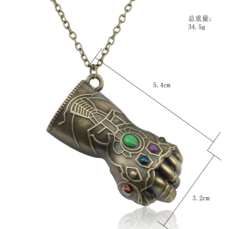 Thanos Glove Infinity Stones Necklace