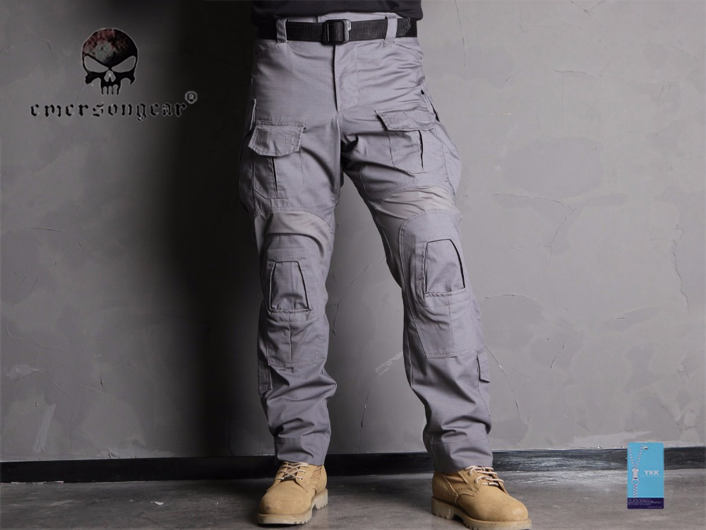 Emersongear Trousers with Combat-Pants Wolf Gray Gen3 Hunting Knee-Pads Military EM9294
