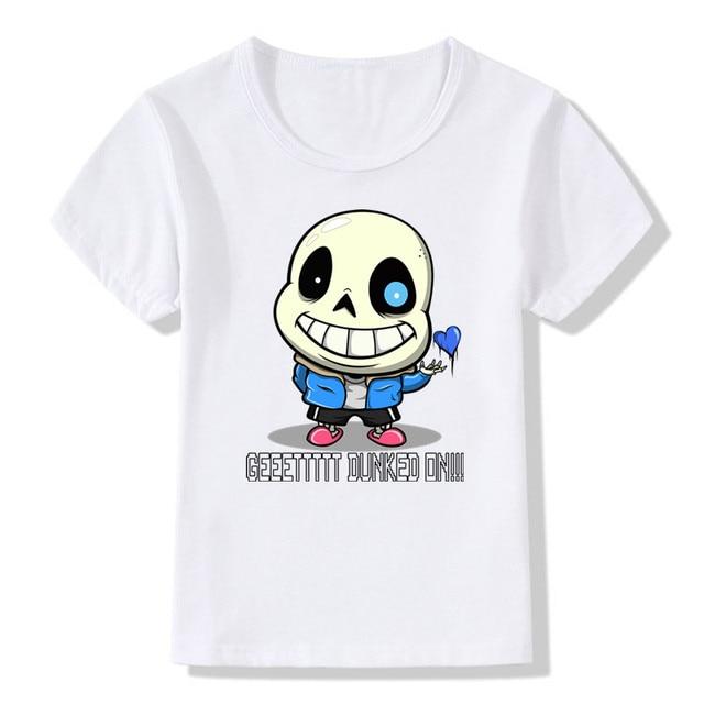 42179a09c5857 2018 été enfants Undertale T-shirt drôle filles garçons été bande dessinée  Anime décontracté hauts