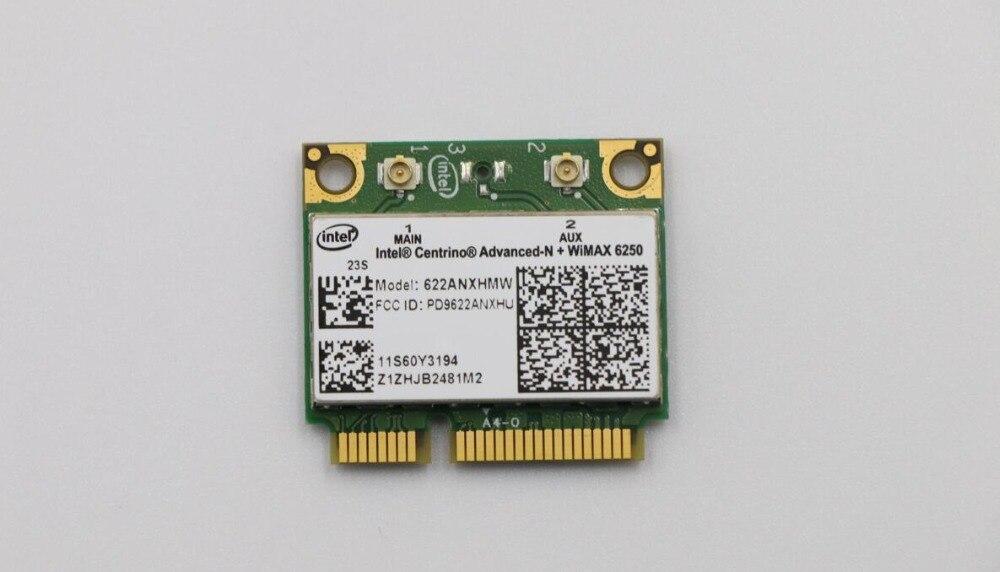 Placa de rede sem fio 622 anxhmw 6250an 300 mbps adaptador wi-fi para lenovo/thinkpad intel advanced-n 6250 anx fru 60y3195