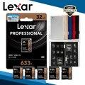 Карта Lexar с кармашком для карт 633x UHS-I V30 U3 C10 SD SDXC карта памяти 512 ГБ 256 ГБ 128 Гб 64 ГБ 32 ГБ карта и алюминиевая коробка для хранения